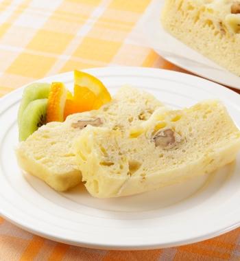 レンジでバナナケーキ レシピ画像