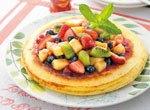 フルーツソースのホットケーキ レシピ画像
