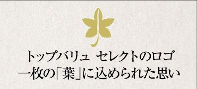 トップバリュセレクトのロゴ 一枚の「葉」に込められた思い