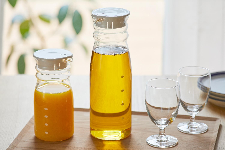 熱湯も使えて、におい移りも少ないガラス製ピッチャー。