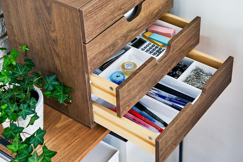 整理ボックスを使って引き出し内をすっきり整頓。