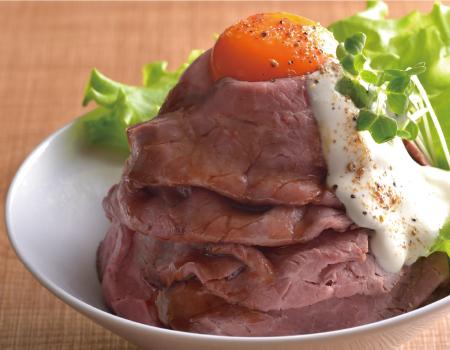 五島塩ローストビーフの山盛り丼