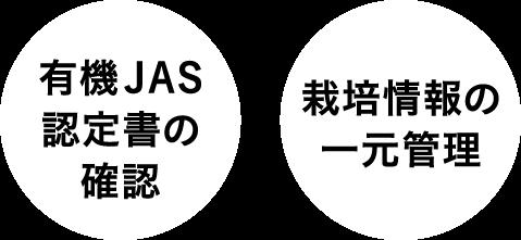 有機JAS認定書の確認 栽培情報の一元管理