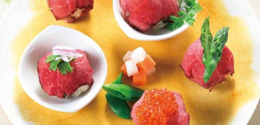 ローストビーフの手まり寿司