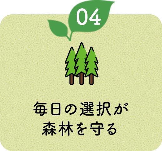 毎日の選択が森林を守る