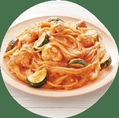 トマトクリームソーススパゲッティ