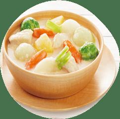 コロコロ野菜のホワイトシチュー