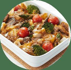 豚肉といろいろ野菜のギュッと焼き
