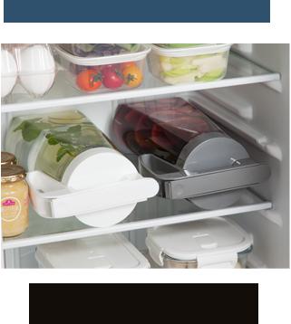 ワンプッシュピッチャー 横置きOK。冷蔵庫のスペースを有効活用。