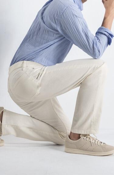 きれいキープ ホワイトデニム5ポケットパンツ