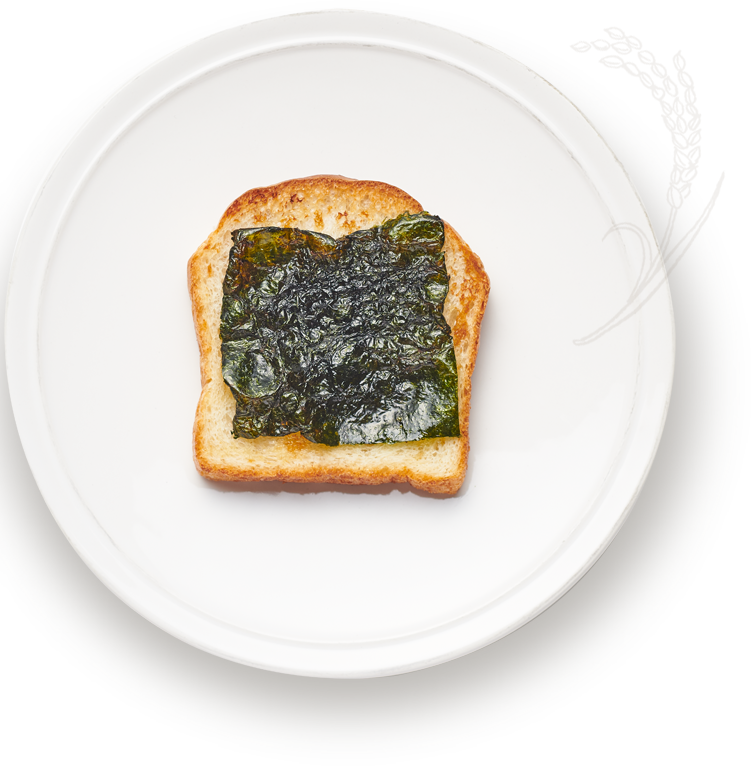 ごま油香る海苔トースト