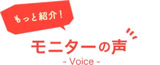 モニターの声