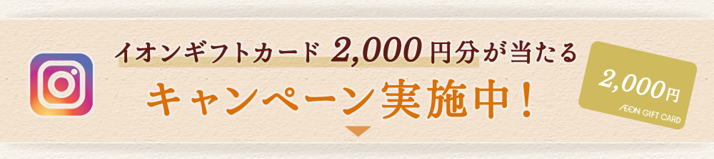 イオンギフトカード2,000円分が当たるキャンペーン実施中!