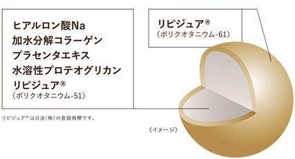 ヒアルロン酸Na 加水分解コラーゲン プラセンタエキス 水溶性プロテオグリカン リビジュア(ポリクオタニウム-51) リビジュア(ポリクオタニウム-61)