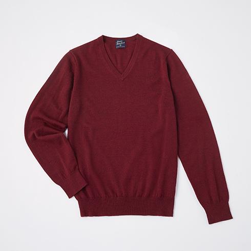 メリノVネックセーター