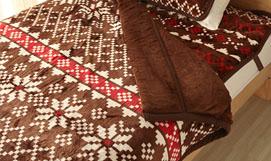 毛布【ノルディ】ブラウン