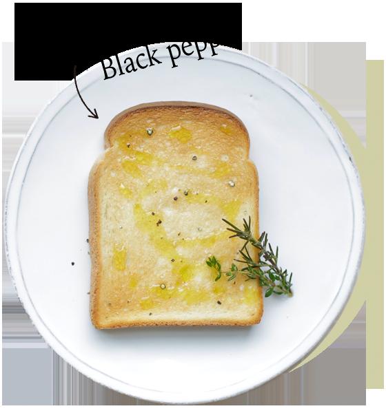 Herv oil & salt, Black pepper