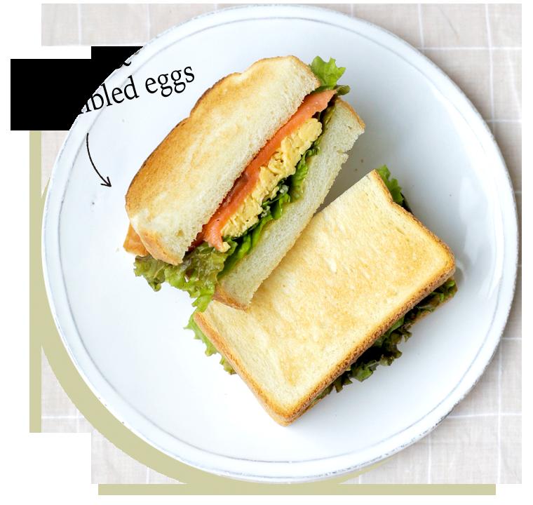 Salmon & Scramvled eggs
