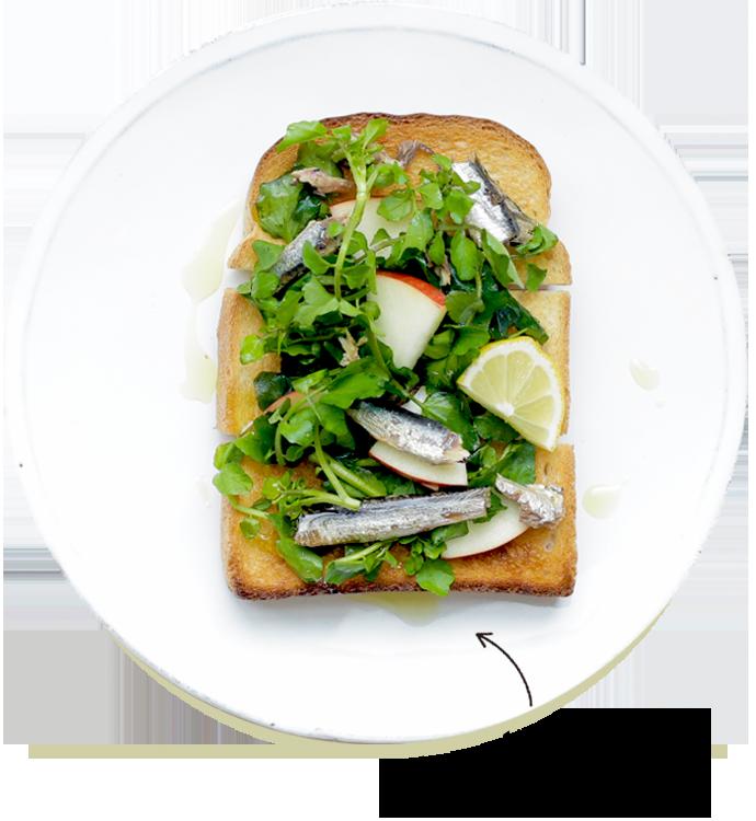 Oil sardine & Watercress