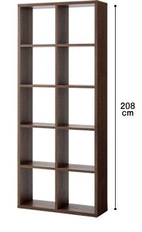 オープンシェルフ2列×5段