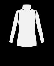 タートルネック長袖