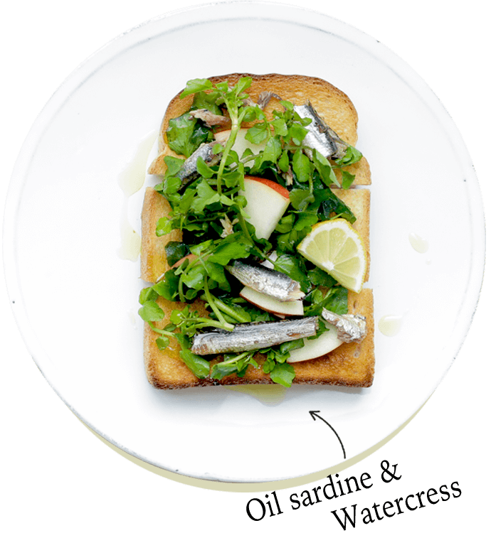 Oil sardine & Watercress