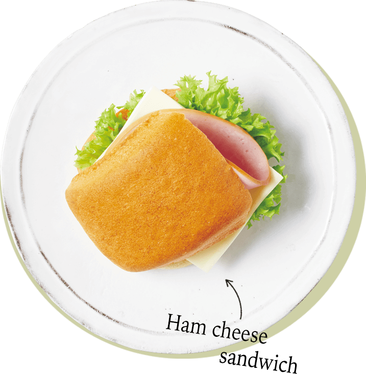 Ham cheese sandwich