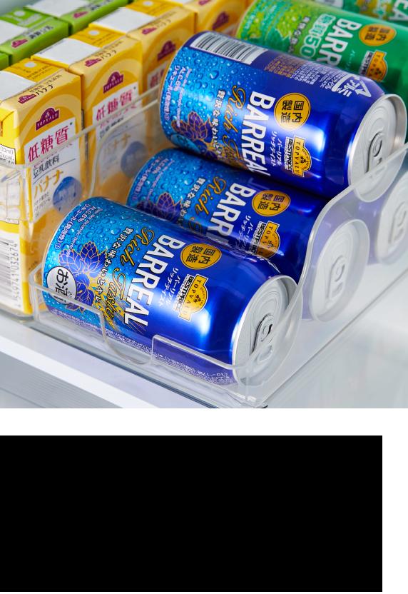 場所を取りがちな缶飲料をコンパクトに収納!
