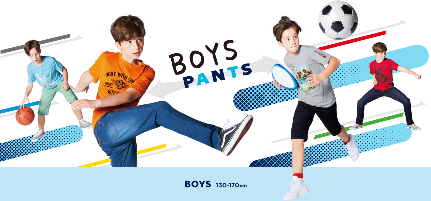 BOYS PANTS 130-170cm