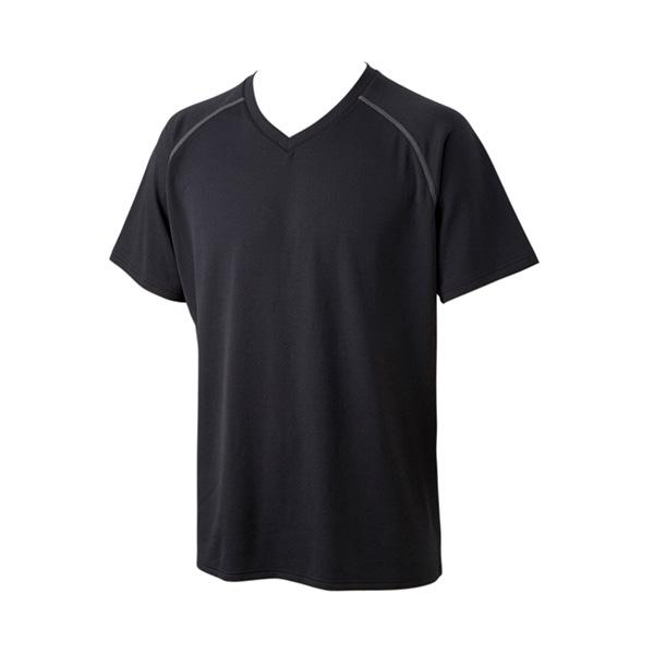 スクエアメッシュ VネックTシャツ