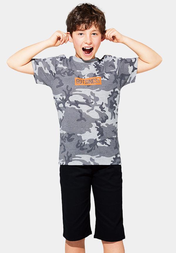 くーるっちミリタリーカモフラ柄Tシャツ