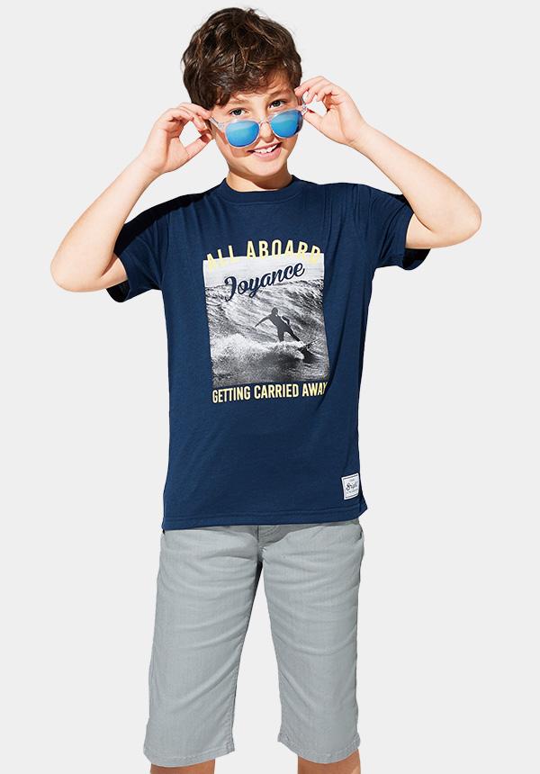 くーるっちサーフモノトーンフォトTシャツ