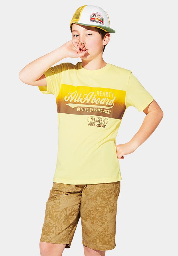 くーるっちサーフ胸プリントTシャツ
