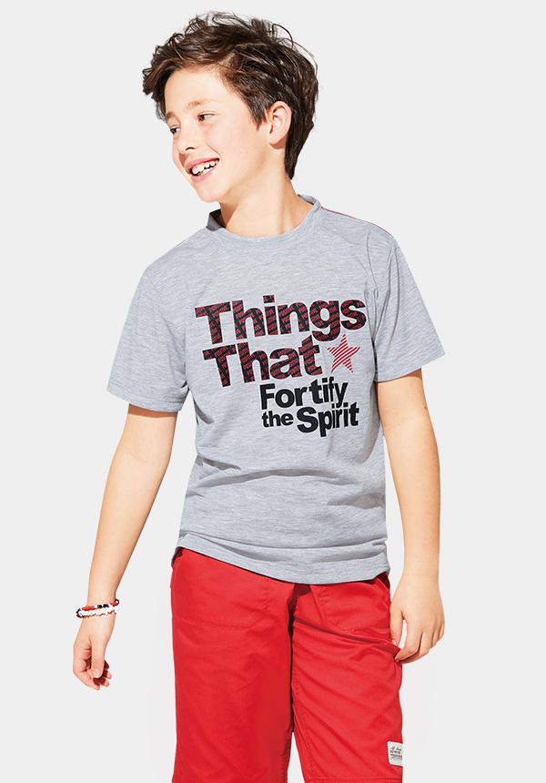 くーるっちモノトーンロゴプリントTシャツ