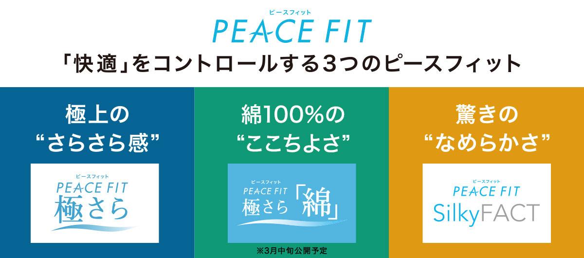 PEACE FIT 「快適」をコントロールする3つのピースフィット