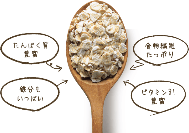 たんぱく質豊富 鉄分もいっぱい 食物繊維たっぷり ビタミンB1豊富